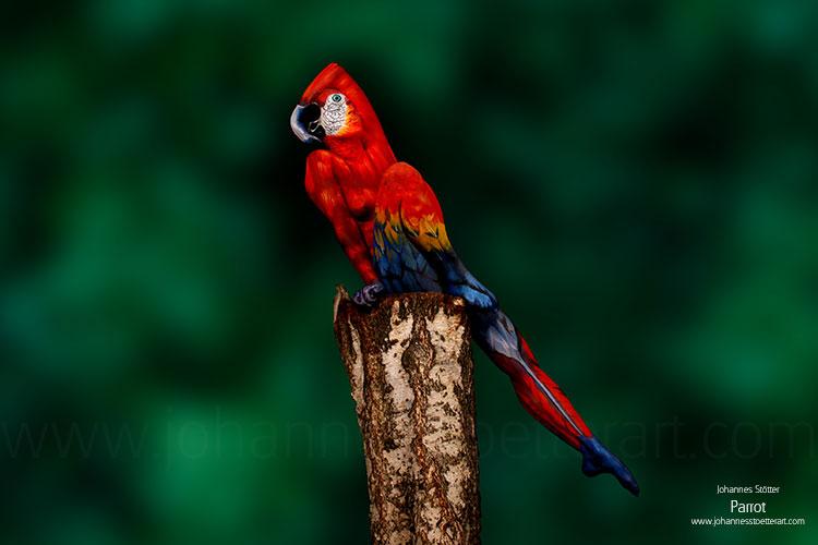 Parrot Bodypainting