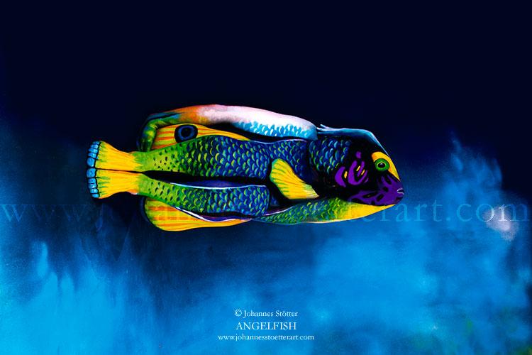 Angelfish Bodypainting Johannes Stötter