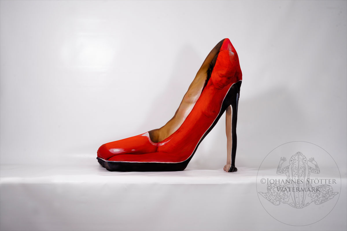 High Heel Bodypainting Art